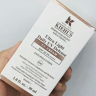 Review Kiehl's ULTRA LIGHT DAILY UV DEFENSE SPF 50 PA++++ CC CREAM ANTI-POLLUTION  30 ML.