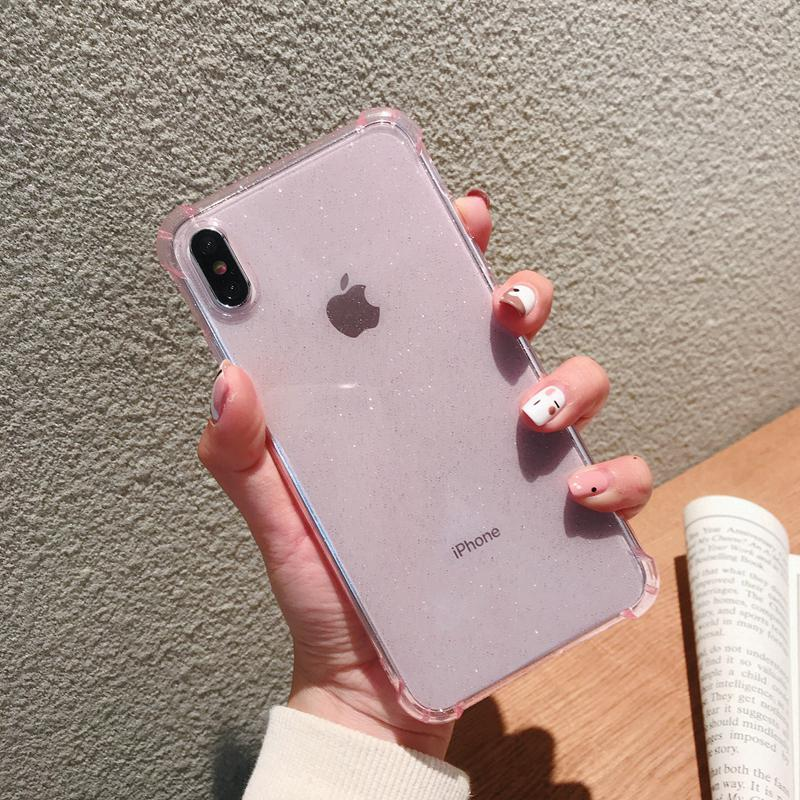 Review Bling Sequins Clear Soft Case iPhone X XS Max XR iPhone 6 7 8 6S Plus Shockproof Cover