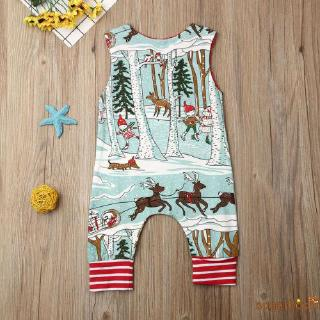 Image # 4 of Review SgmNewborn Baby Girl Boy Christmas Costume Santa Romper Jumpsuit Bodysuits Clothes Xmas Outfits