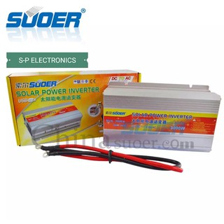 Suoerอินเวอร์เตอร์ 12V 3000W 12V to 220V Portable Smart Power Inverter