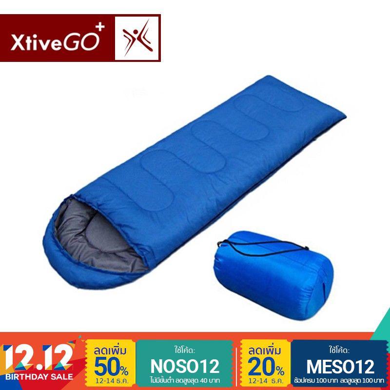 [ส่งฟรี] - XtiveGo ถุงนอนแบบพกพาสำหรับเดินทางสีน้ำเงิน
