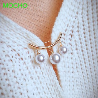 Review Korean Fashion Jewelry Simple Anti Slip Simulated Pearl Brooch
