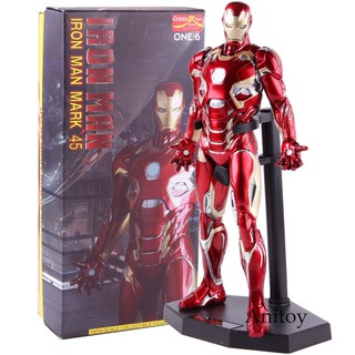 The best Crazy Toys 1:6 Iron Man Mark XLV Iron Man MK45 1/6 Scale Ironman Action Figure Collectible Model Toy