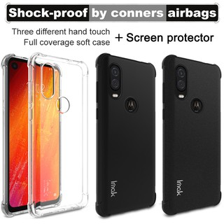 Review Airbag For Motorola Moto One Vision Moto P50 Case Screen Protector IMAK Soft TPU silicone shell Back Cover cases