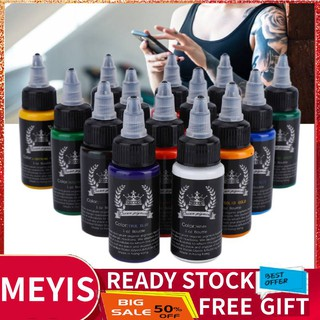 The best ✨Meyishop SALE 30ml/Bottle 14 Colors Professional Tattoo Makeup Ink Tattoo Pigment Body Art Inks