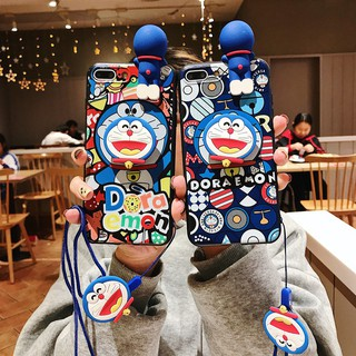 Review Doraemon Case Oppo A71 F1S A59 A37 A77 A83 A39 A57 F5 F7 F9 A3S With Lanyard