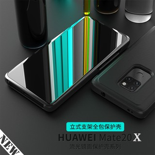 Review 🔥 Huawei Mate 20X / Mate20X 20 X Case Fashion Smart Mirror Flip Clear View Phone Cover Casing กรณี - 7.2