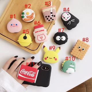 cute anime Cartoon air bag phone Holder stretch bracket  mobile Universal cellphone Ring