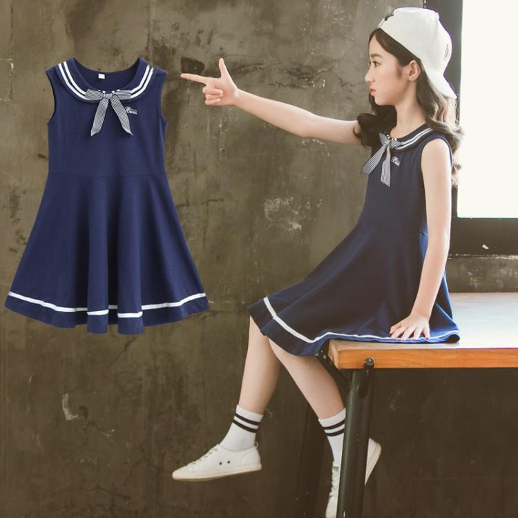 Review School Skirt/Cotton Girl Dress/Kids Skirt