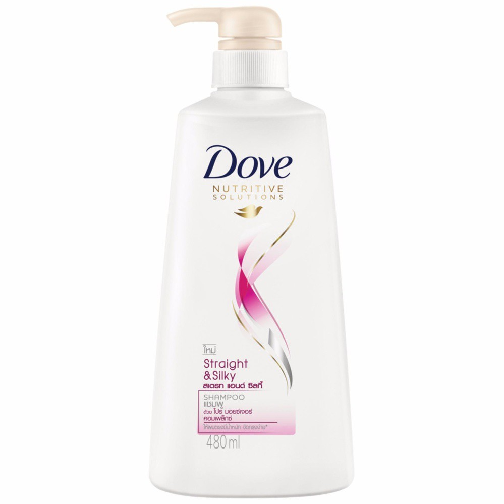DOVE Hair Conditioner Straight and Silky Pink 460 ML UNILEVER