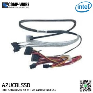 Intel Cable KIT A2UCBLSSD - Kit Of Two Cables to Enable Fixed SSD & Rear Drive Accessories , Mini-SASHD to four 7-pin