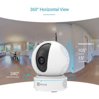 Image # 5 of Review Ezviz (1080p) กล้องวงจรปิด รุ่น C6CN Mini 360 Wi-Fi PT Camera w/Lan Pan-Tilt IP Security Camera 2.4GHz