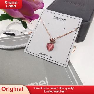 2020 Singapore chomel necklace with diamond crown heart-shaped moon stone pendant female choker