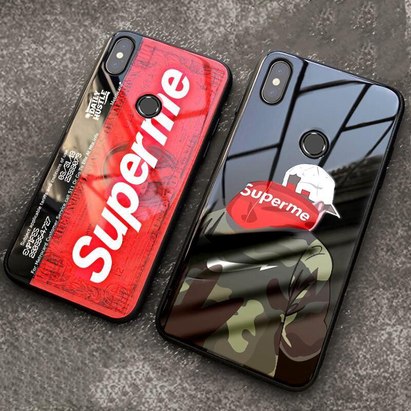 Review Redmi Note 6 Pro Note 5 Pro Fashion Luxury Cartoon Glass Superme Phone Case