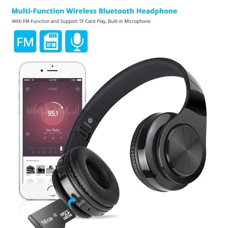 The best Hi-Fi Stereo Bluetooth Headphone Foldable Adjustable Handsfree Wireless Earphones Headset with Mic S