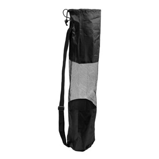 Review Portable Mesh Center Black Pilates Mat Bag Carrier for Yog DRT