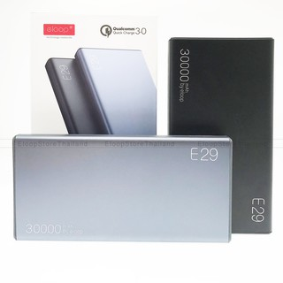 Review [แถมสายชาร์จ Eloop 2 in 1] [รับประกัน 1 ปี] Eloop E29 แบตสำรอง 30000mAh Power Bank ชาร์จเร็ว Fast Quick Charge QC 3.0/PD