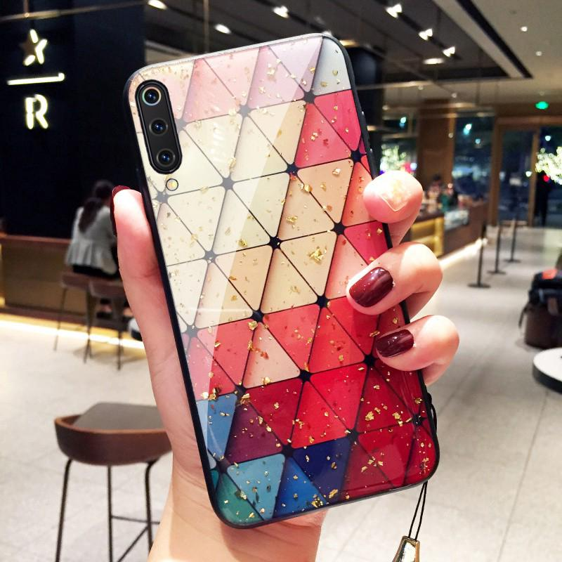 Review Ready Stock Casing Xiaomi Mi 9 SE Mi 8 Lite 6X A2 Case Renaissance Gold Foil Diamond Lattice Mi9 Mi8 Cover