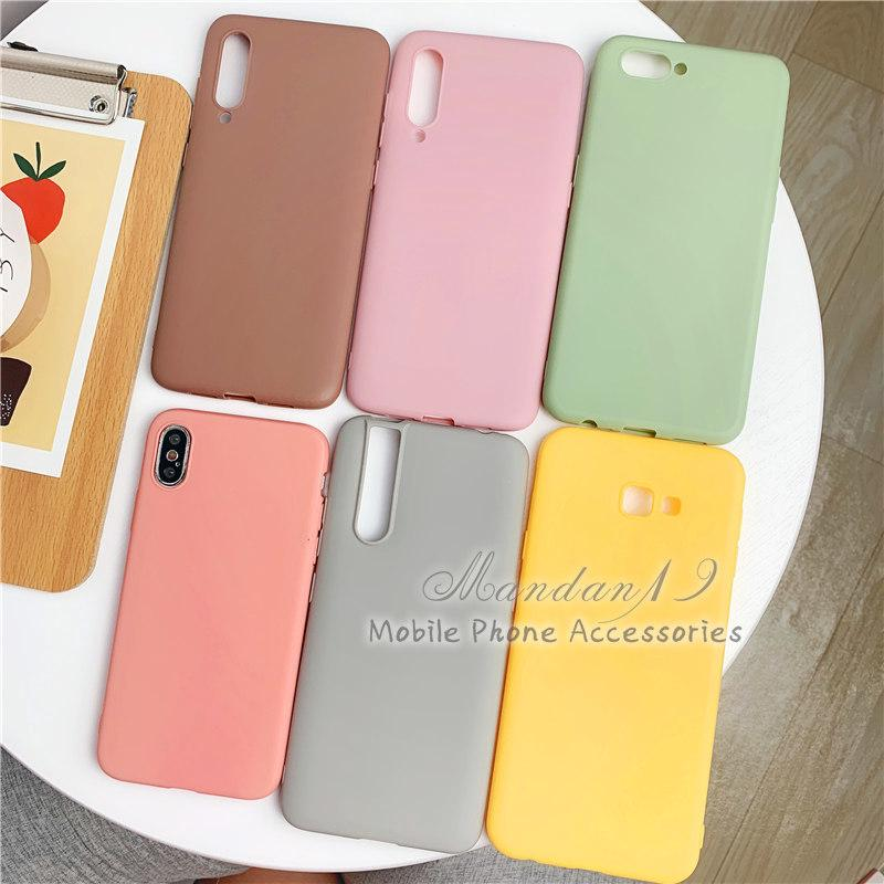 Image # 2 of Review กรณี Casing Xiaomi Redmi S2 Note 6 Pro Note 7 Mi A2 Lite Plain Rubber Matte Candy Soft Case