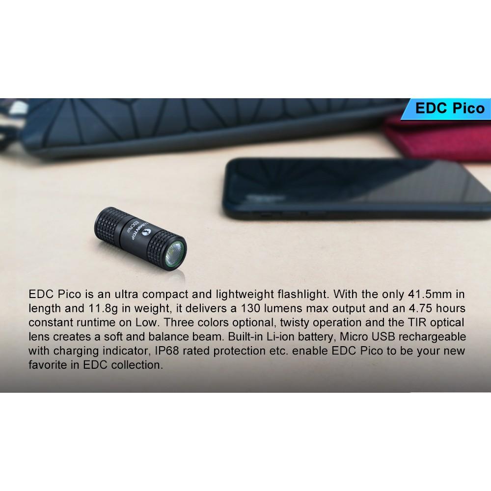 ไฟฉายขนาดเล็ก Lumintop EDC Pico 130LM พร้อมแบตเตอรี่ในตัว