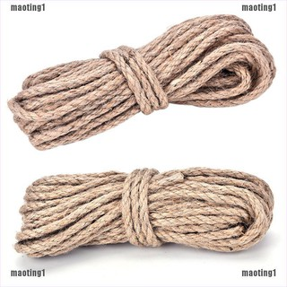 Review 【MT&TH】10M 6mm Jute String Twine Twisted Hessian Burlap Hemp Cord Rope Brown