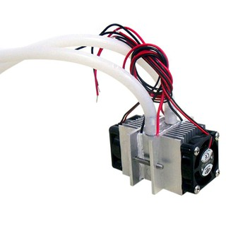 Review DIY kits Thermoelectric Peltier Refrigeration Cooling System Water cooling+ fan+ 2pcs TEC1-12706 Coolers