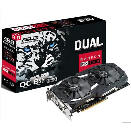 Review Asus DUAL-RX580-O8G 8GD GDDR5 256bit Snow Leopard VR Game Graphics used like new