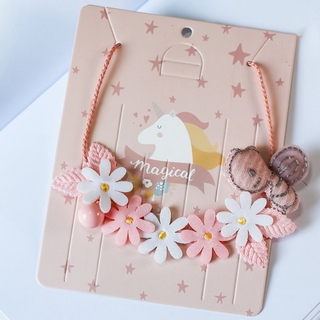 ⭐SHOW⭐เครื่องประดับFashion Headwear Hair Device Little Princess Garland Girl Clavicle Necklace