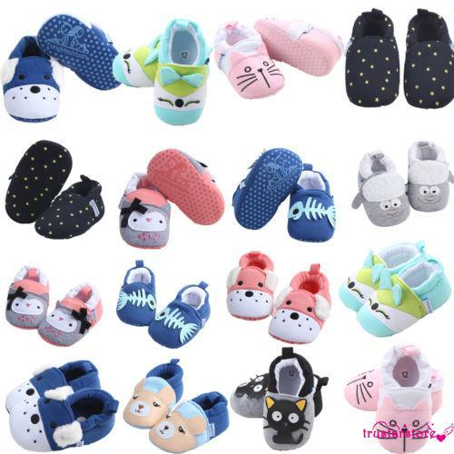 ✦ZWQ-Non-slip Toddler Kids Baby Shoes Cartoon Girls Soft Sole Cotton Crib Shoes