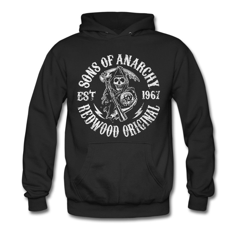 Image # Sons of Anarchy Grim Reaper เสื้อกันหนาวมีหมวก of The best Sons of Anarchy Grim Reaper เสื้อกันหนาวมีหมวก