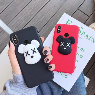 Review Xiaomimi Redmi Note 7 5 6A S2 4X 4A K20 5A 7A Kaws Violent Bear Cartoon 3D Patterned Soft TPU Slim Thin Case Cover