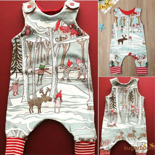 Image # 0 of Review SgmNewborn Baby Girl Boy Christmas Costume Santa Romper Jumpsuit Bodysuits Clothes Xmas Outfits