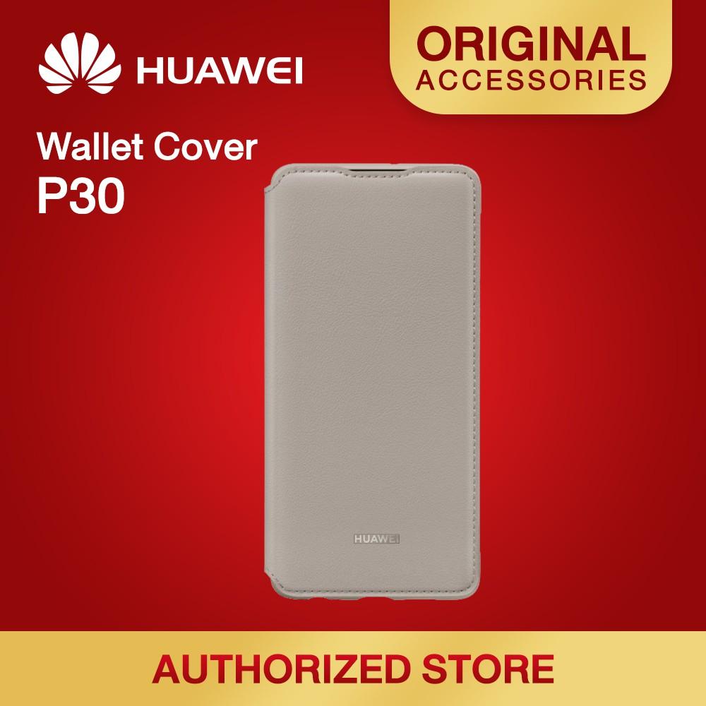 HUAWEI P30 Wallet Cover มีให้เลือก 3 สี Pink , Khaki , Black
