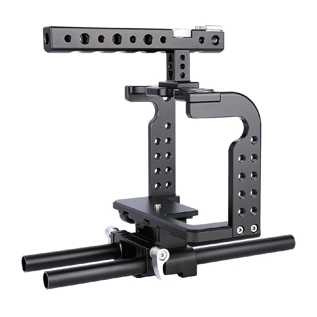 GH5 Camera Cage Rig C7 Portable Stable DLSR Camera Accessories for Panasonic Lumix GH5 C