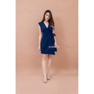 ARAYA B DRESS NAVY