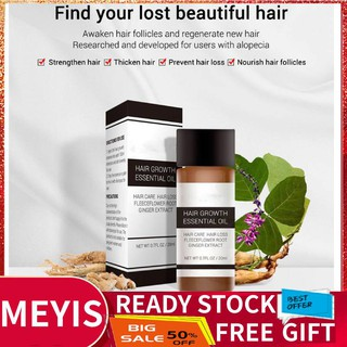The best ✨Meyishop SuperSale Natural Ginseng Scalp Hair Oil Liquid Loss LANBENA Health Growth Essence