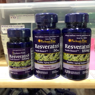The best Resveratrol 50,100,500mg  Puritan's Pride