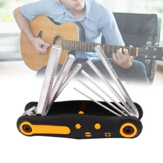 Review 8 In 1 Instruments Metal Foldable Professional Durable For Guitar Portable Repair Tool Multifunctional Wrench