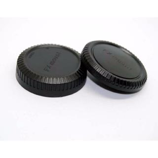 Body and Rear Lens Cap for Fuji FX Mount X-A2 X-A3  XA-10 X-E2 X-T10 X-T1 ฝาปิดท้ายเลนส์และบอดี้ฟูจิody and Rear Le