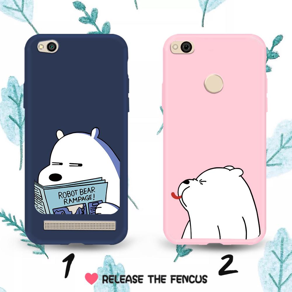 Review กรณี ❄️Xiaomi Mi A2 Lite Redmi 5 Plus Note 7 Cover Cartoon Bear Soft Casing