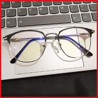 Black eyebrow frame artistic business radiation-proof myopia glasses men's anti-blue light plain glasses women's Yu Wenle same style plain face