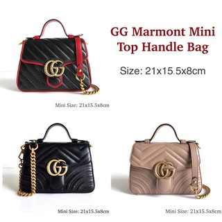 Review Gucci marmont top handle mini ของแท้ 100%