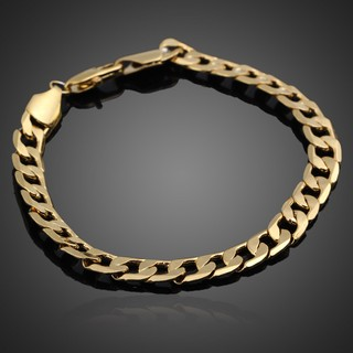 Image # 0 of Review มีสินค้าGorgeous Gold Plated Chunky Link Chain Bracelet Bangle Gift for Women