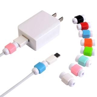 2pcs Cord Protector Protective Case Cable Winder Cover For iPhone USB Charging