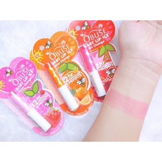 Review ลิปมันเบบี้ Obuse Baby Lip Ice Color Chang