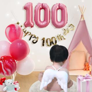 Kids party decoration set A_pink / 100 days party decor pack