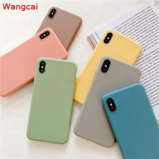 Xiaomi Mi Note 3 Play Pocophone F1 Mi 8 Pro Case Candy Color Colorful Plain Matte Fresh Simple Cute Soft Silicone TPU Case Cover