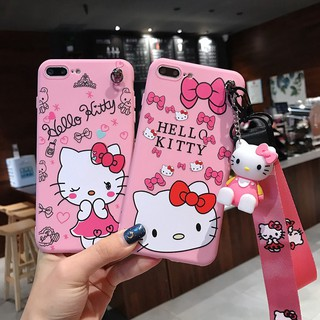 Review Case Vivo V9 V7plus V5 Y71 Y91 Y95 Y83 X9 X21 X23 Hello Kitty Soft Case With Lanyard