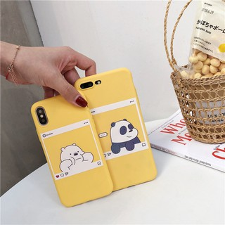 Review Vivo V9 V7 V7Plus V5 V5s Y83 X9 X9plus Cute Cartoon We Bare Bears Soft TPU Back Cover Couples