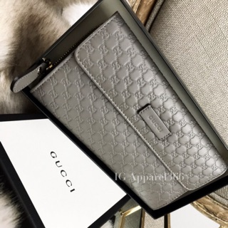 Review GUCCI Microguccissima Leather Wallet